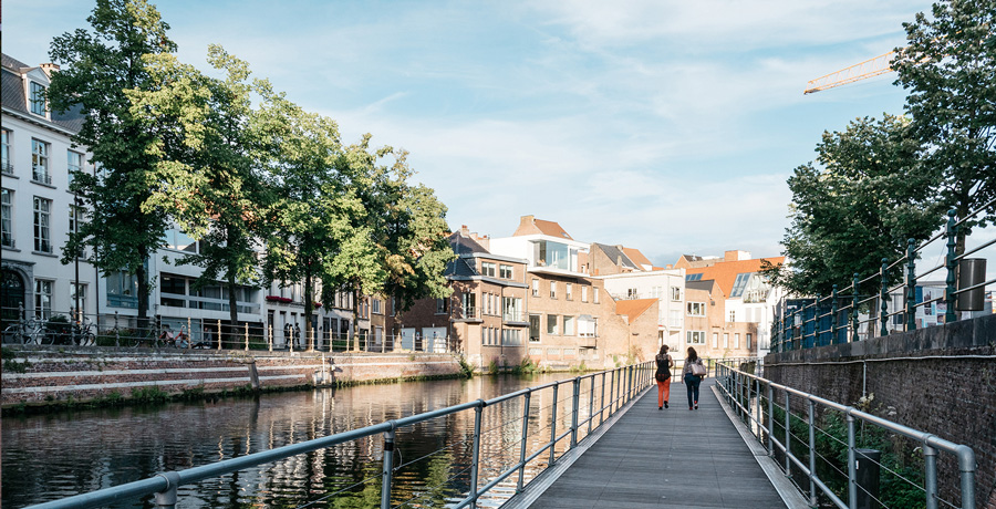 Gangway along the Canal in Mechelen