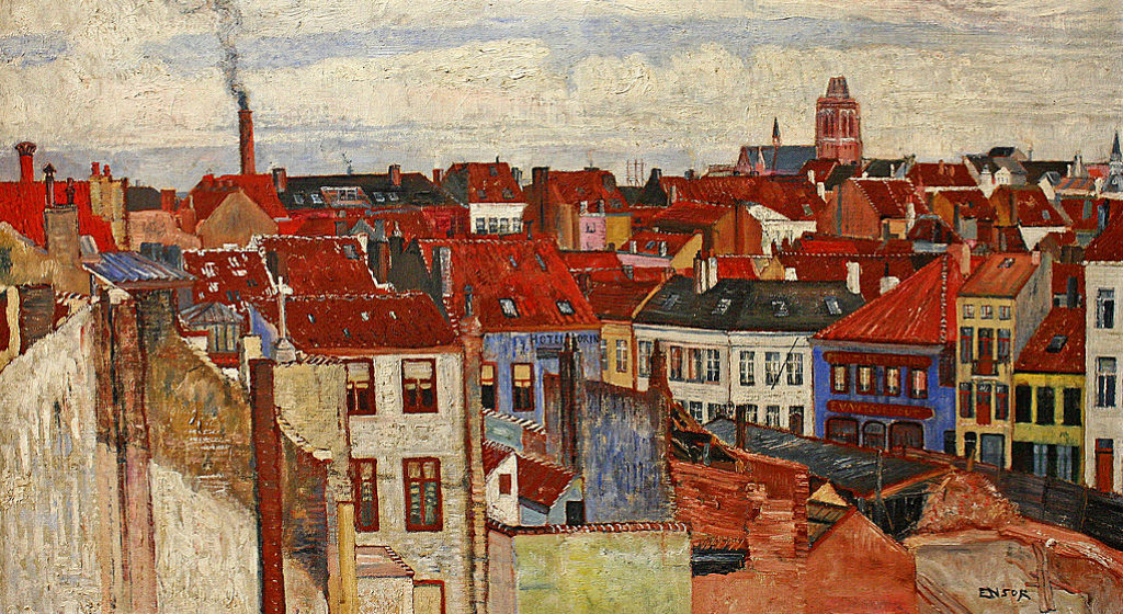 James Ensor, De daken van Oostende (roofs of Ostend) 1901 - collectie Mu.ZEE - (CC)License - photo Frans Vandewalle (resized image)