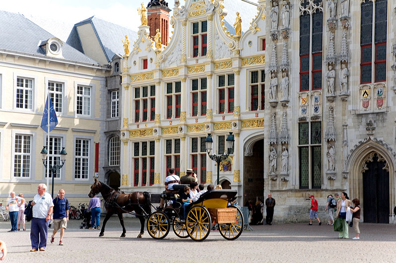 Horse carriage at the Burg in Bruges