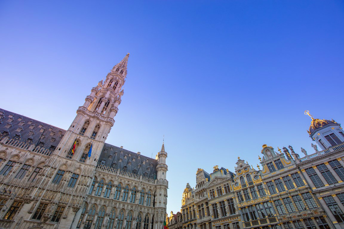 Grand' Place in Brussels - view on the City Hall