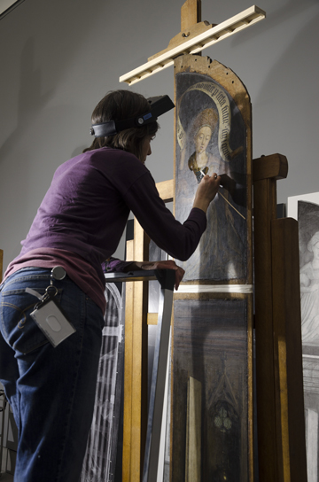 Restoration of the Ghent Altarpiece © KIK IRPA Bruxelles