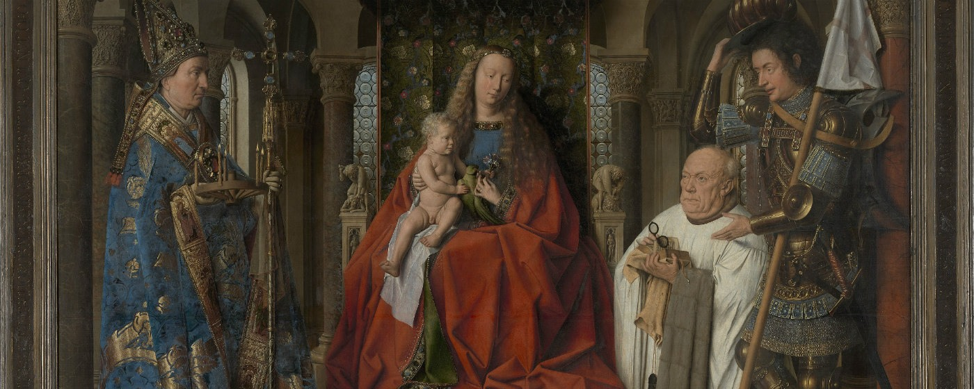 The Virgin and Child with Canon Joris Van der Paele Museum Brugge-Groeningemuseum (c)www.lukasweb.be -Art in Flanders vzw photo Hugo Maertens, http://www.lukasweb.be/en/photo/the-virgin-and-child-with-canon-joris-van-der-paele-9