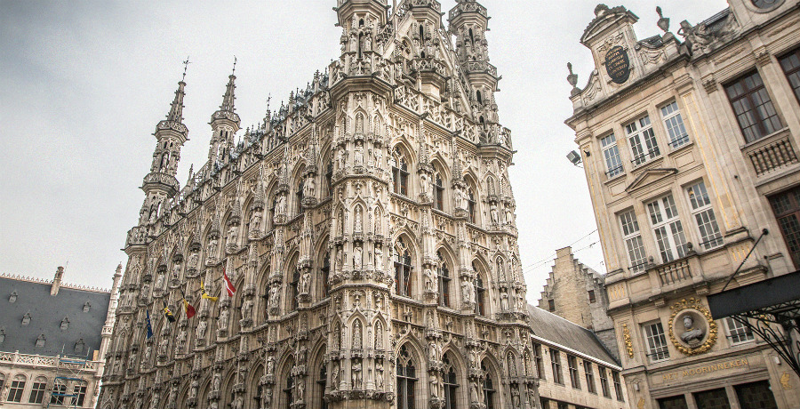 The City Hall (Het Stadhuis) in Leuven
