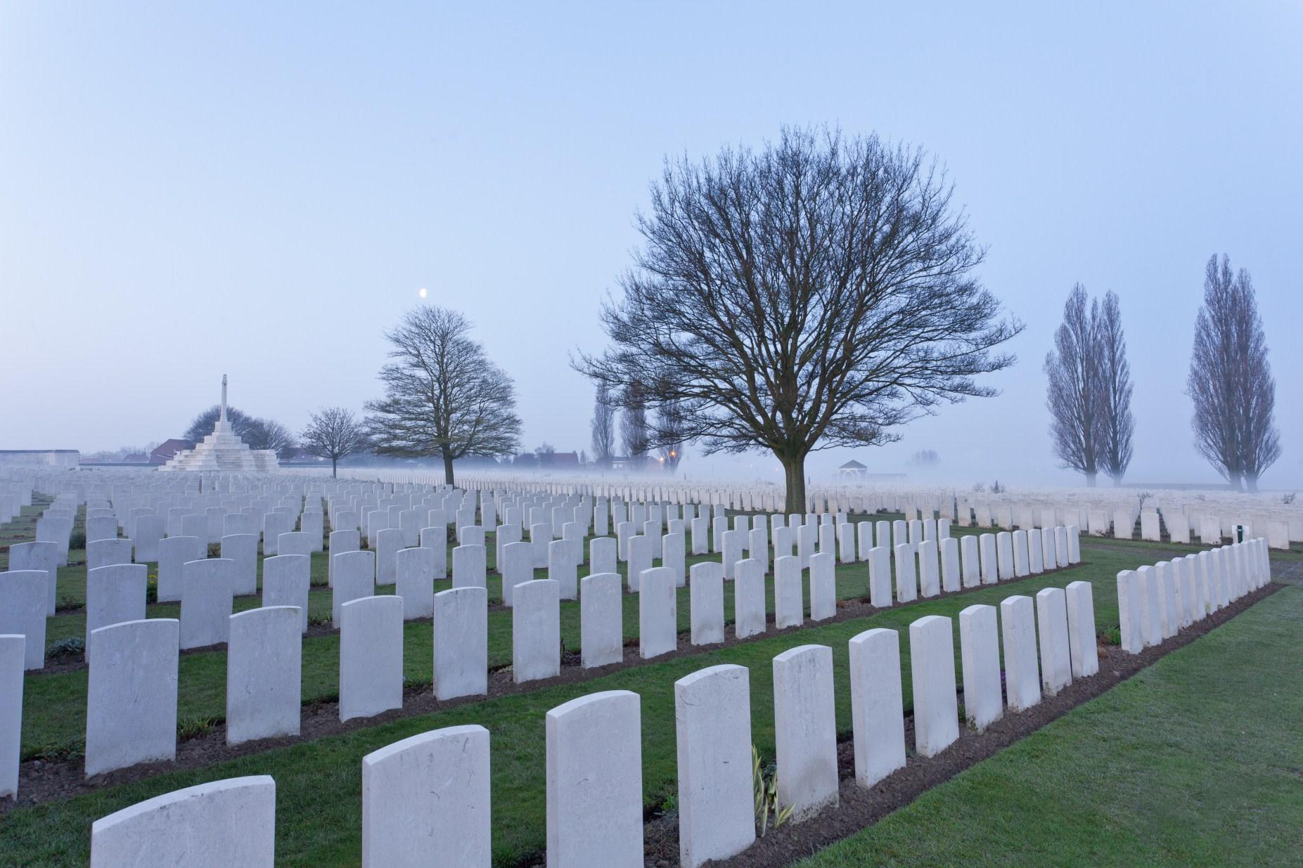 Silent city meets Living city - Tyne Cot Cemetery