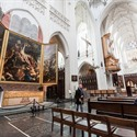 Masterpiece 'the evelation of the Cross' by Rubens in the Cathedral of our Lady Antwerp