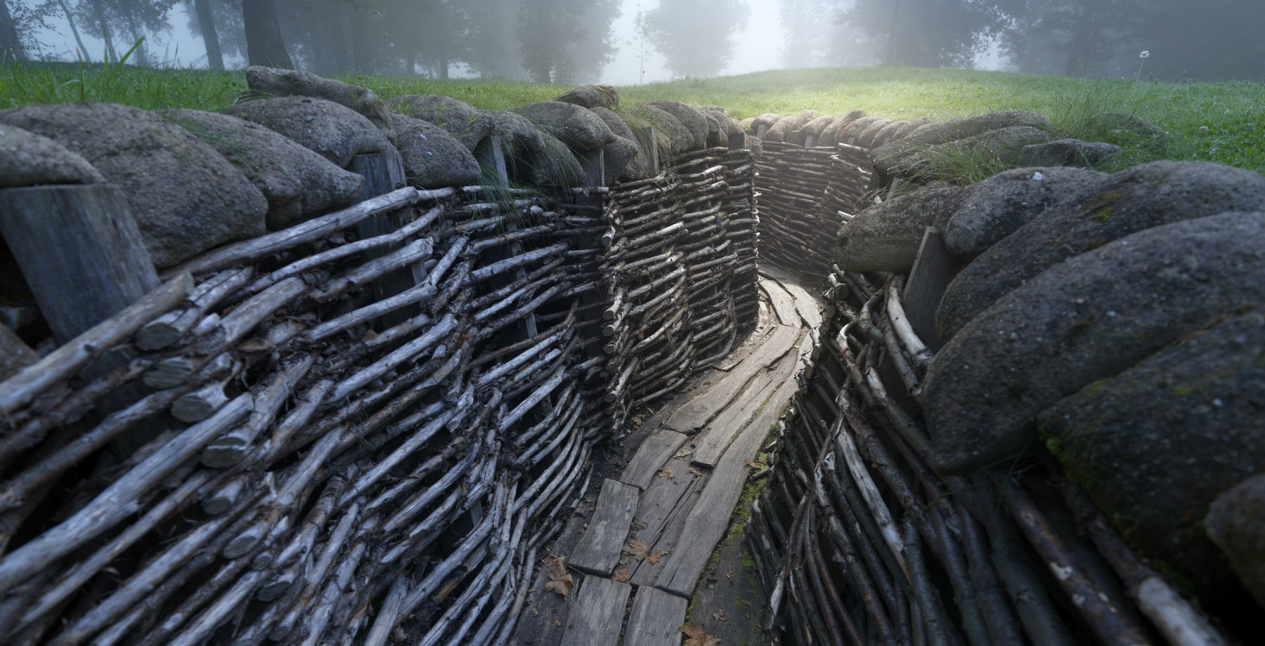 Bayernwald Wijtschate trenches