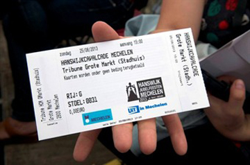 Ticket for the Hanswijk Procession - Mechelen