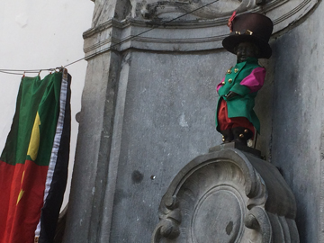 Manneken-Pis dressed for Tomorrowland