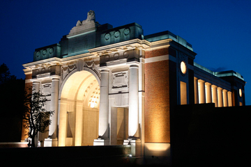 Menin Gate by night in Ypres - ©Bart Vandenbroucke