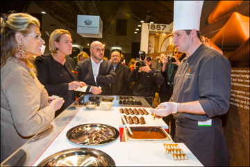 Belgian Salon du Chocolat: tasting of chocolate - ©Eric Danhier