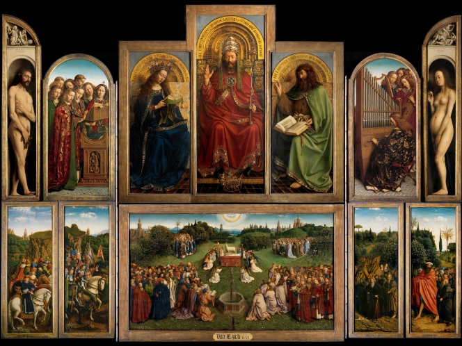 The Adoration of the Mystic Lamb - Jan Van Eyck - © Lucasweb.be, http://www.lukasweb.be/en/photo/the-ghent-altarpiece-open-152