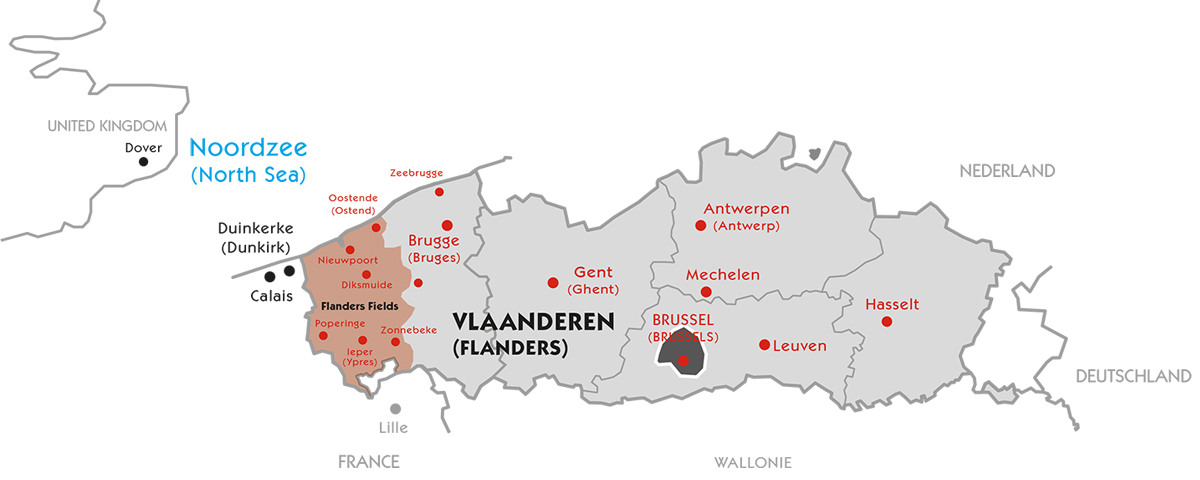 Map Flanders Fields