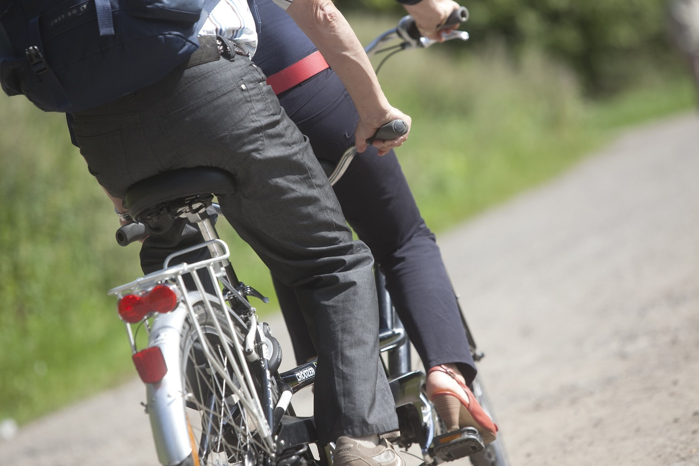 Recreational hikers and cyclists