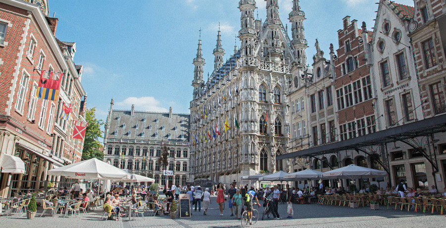 The Grote Markt (Grand Place) in Leuven- iStock