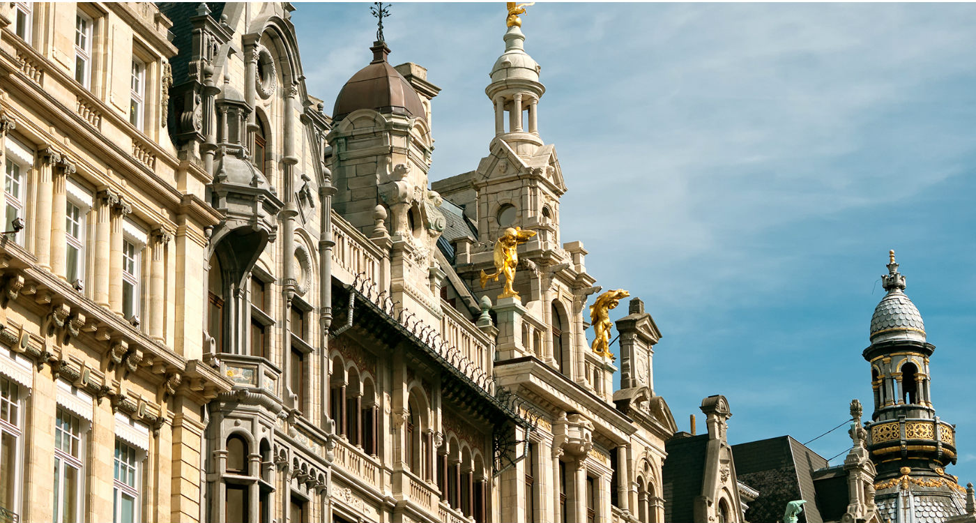 Rococo buildings on the Meir in Antwerp