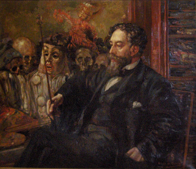 Portrait de James Ensor chez Henry De Groux  (1907) © http://creativecommons.org/licenses/by/3.0/deed.en
