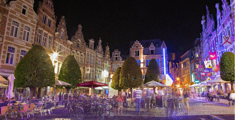 The Oude Markt Square in Leuven