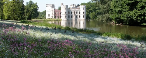 Botanic Garden Meise - castle and lake