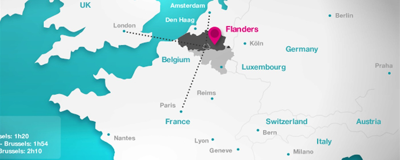 Flanders in Europe - map