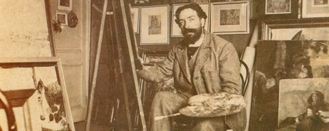 James Ensor nel suo studio (1895) - © https://creativecommons.org/licenses/by-nc-sa/2.0/