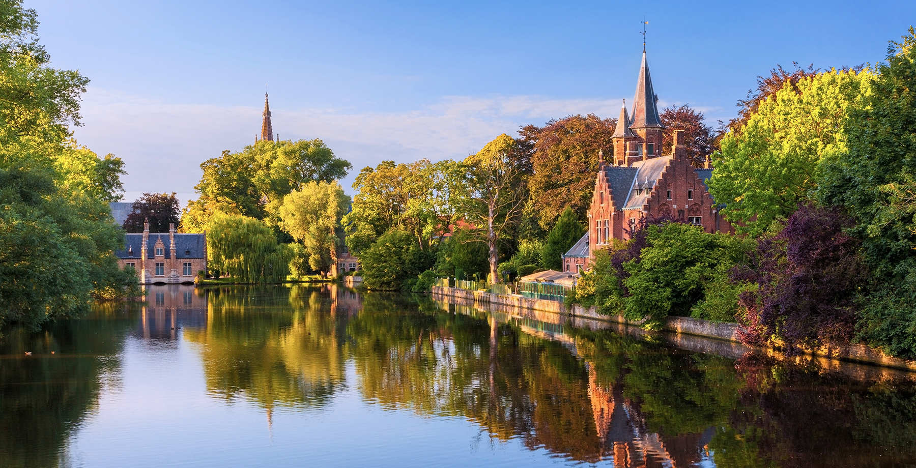 Lago Minnewater a Bruges