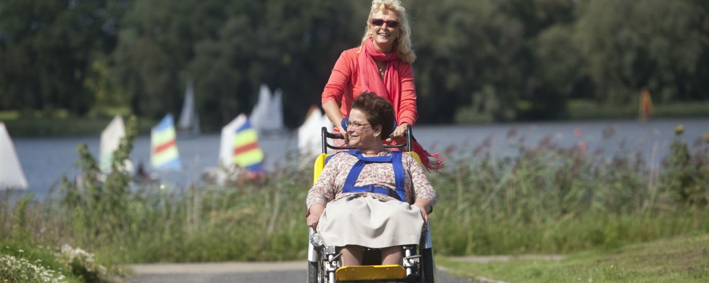 Walking and cycling - woman in wheelchair