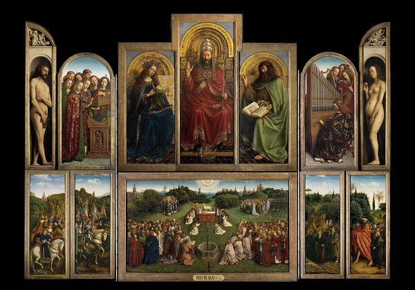 The Ghent Altarpiece (open) Sint-Baafskathedraal Gent (c)www.lukasweb.be - Art in Flanders vzw photo Hugo Maertens, http://www.lukasweb.be/en/photo/the-ghent-altarpiece-open-152