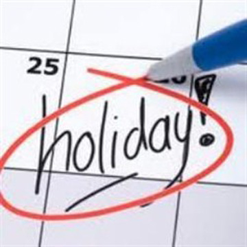 Official holidays