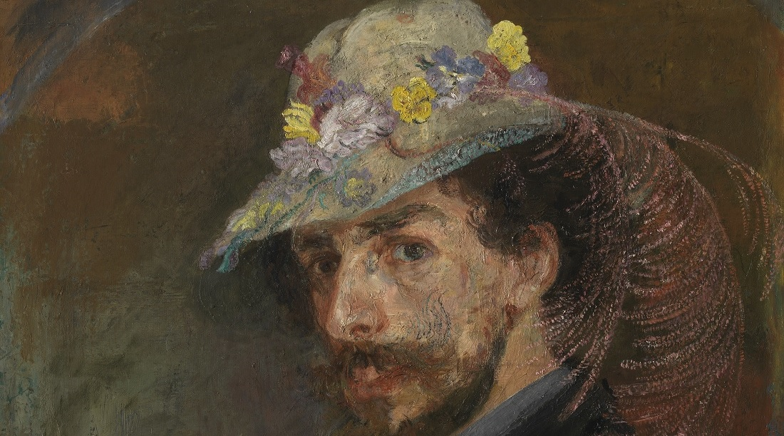 Ensor - Self portrait with flower hat -Mu.ZEE, www.lukasweb.be – Art in Flanders, foto Hugo Maertens