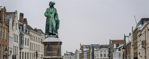 Jan Van Eyck Statue in Bruges - Photo El-Moe © https://creativecommons.org/licenses/by-nc-sa/2.0/