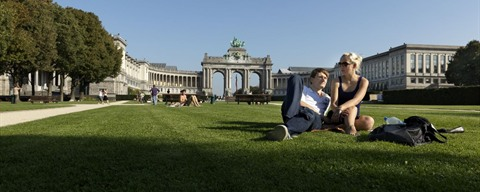 Enjoying the sun in the Jubelpark in Brussels ­­­© Milo Profi - copyright always obligatory