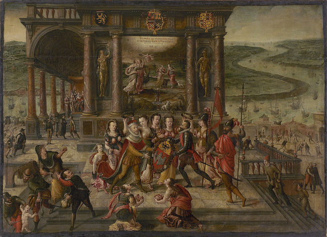 Hans Vredeman de Vries, allegory on the surrender of Antwerp 1585 - ©Mas Bart Huysmans