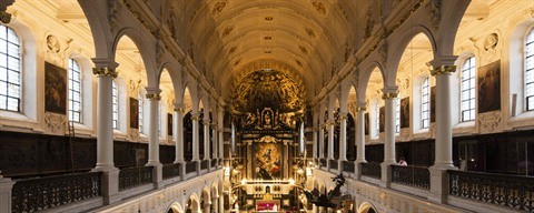 Interior of the Carolus Borromeus Church in Antwerp
