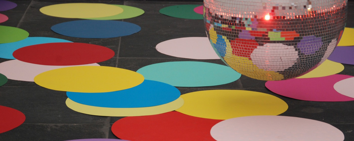 SMAK in Ghent: colored dots on floor